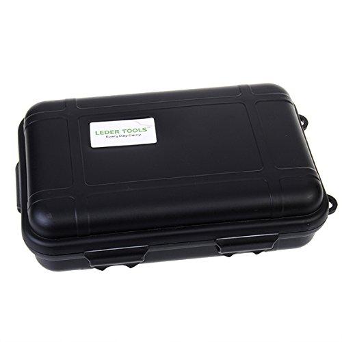 Waterproof Shockproof Hard Silicone Tool Storage Box Black
