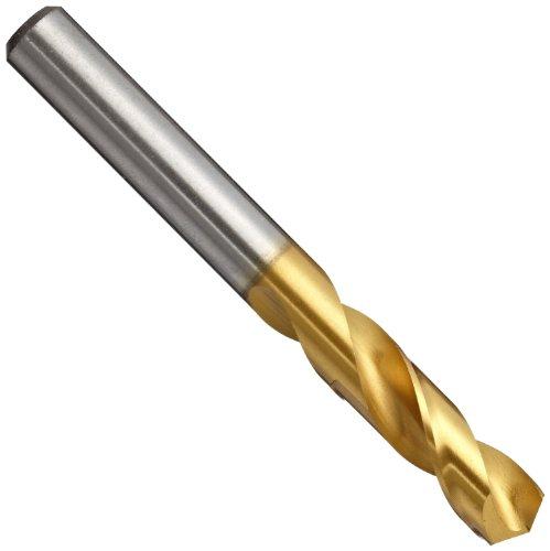 YG-1 D4107 High Speed Steel Stub Screw Machine Drill Bit TiN Finish Straight Shank Slow Spiral 135 Degree 33mm Diameter x 49mm Length Pack of 1