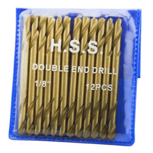 XtremepowerUS 12Pc 18 HSS Double End Titanium Drill Bit HSS DBL Head by XtremepowerUS
