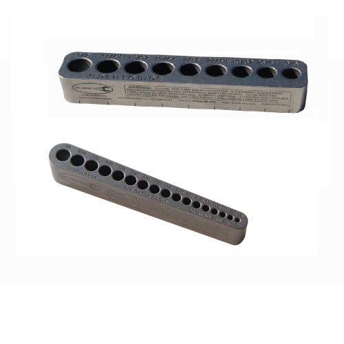 Big Gator Tools BGT V-drill 2 Pack V-drillguides W25 SAE Standard Hole Sizes 18 - 12