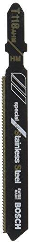 Bosch T118AHM3 3-Inch 24TPI TC Bosch Shank Jigsaw Blade 3 Pack