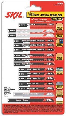 SKIL 94916 16pc Jigsaw Blade Set 94916