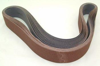 Aluminum Oxide Sanding Belts 2 by 48 120 Grit Pack of 10