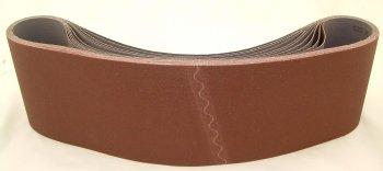 Aluminum Oxide Sanding Belts 6 by 48 36 Grit Pack of 10