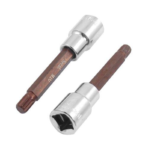2 Pcs M10 514 Triple Square Head Screwdriver Link 12 Mechanic Drive Socket