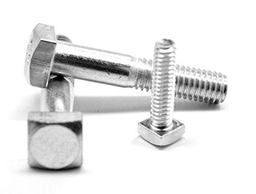 516-18 x 1 34 PT Coarse Thread A307 Grade A Square Head Machine Bolt Low Carbon Steel Plain Finish Pk 50