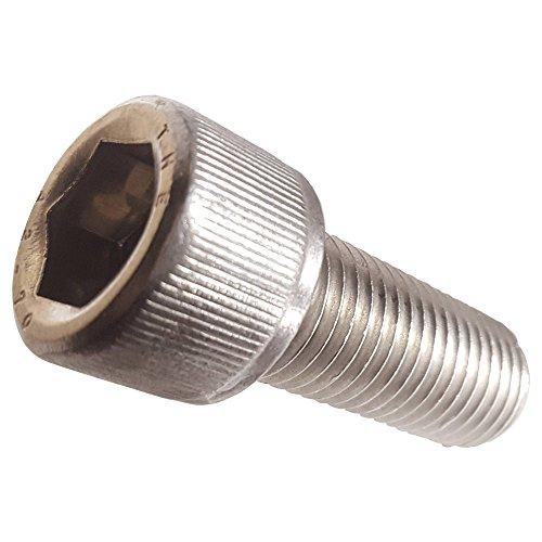 M16-200 x 30MM Socket Head Cap Screws Allen Socket Drive Din 912 Stainless Steel 304 Full Thread Bright Finish Machine Thread Quantity 5