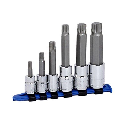 Capri Tools 30039 XZN Triple Square Socket Bit Set 6-Piece