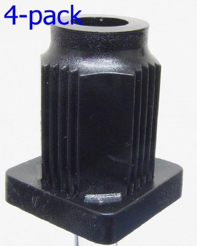 Oajen caster socket for 716 diameter grip ring stem 4-pack 1 OD square tube