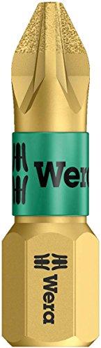 Wera Series 1 8551 BDC Diamond coated Bit Pozidriv PZ 1 Head x 14 Drive
