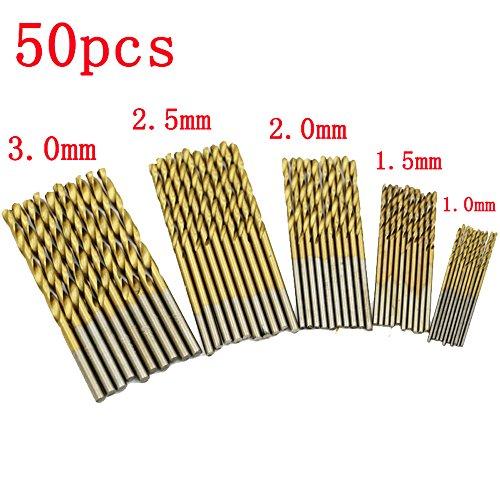 50PCS Shank High Speed Steel Plating Titanium Drill Bit Set Twist Drill Straight Shank Drill 10MM15MM20MM25MM30MM