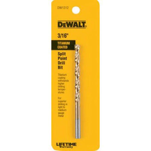 DEWALT DW1312 316-Inch Titanium Split Point Twist Drill Bit