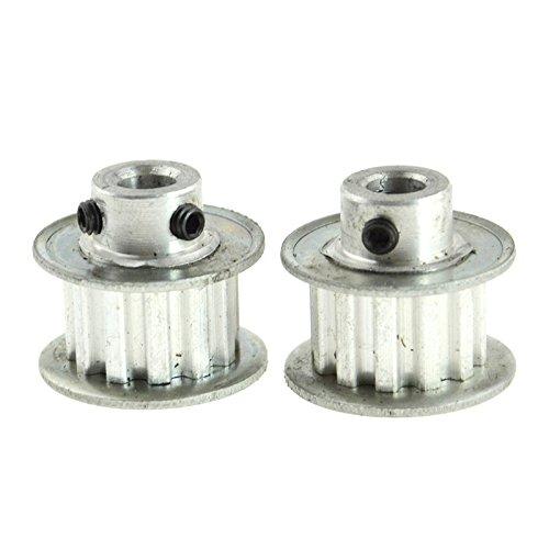 2PCS Timing Belt Pulley XL 10 Tooth 635mm Aluminum Bore for 3D Printer CNC