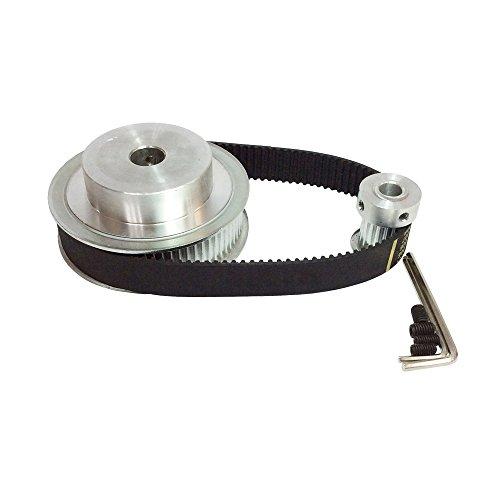 BEMONOC HTD 3M 50T 25T Belt Width 15mm Timing Pulley Belt set kit Reduction Ratio 21