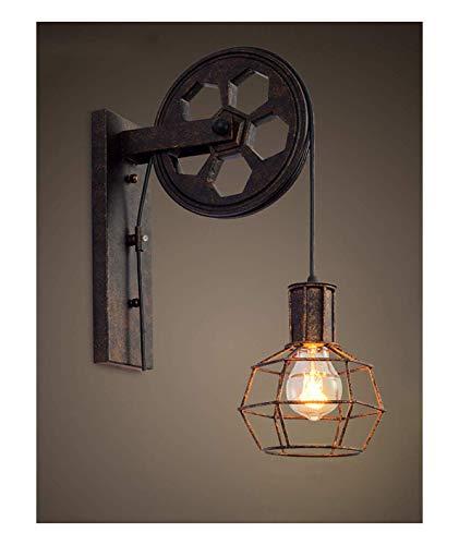 HGMMY Industrial Wall Light Pulley Light Corridor Wall Lamp