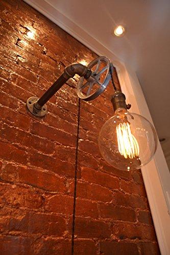Wall Pulley Light - Single Steel Wheel