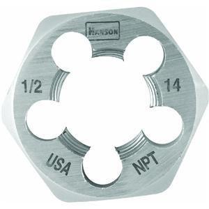 Irwin Tools 7005 Hexagon Taper Pipe Dies 12 Inch - 14 NPT
