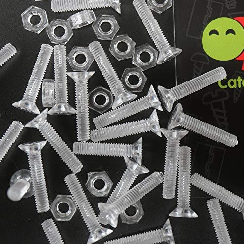 50 x Crosshead Countersunk Screws Nuts and bolts Transparent Clear Plastic Acrylic M4 x 20mm - Acrylic Plastic Screws 532 x 2532