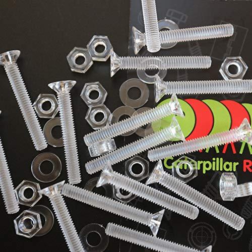 50 x Crosshead Countersunk Screws Nuts and bolts Transparent Clear Plastic Acrylic M4 x 30mm - Acrylic Plastic Screws 532 x 1 316