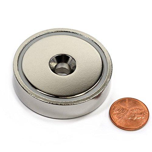 CMS Magnetics 150 LB Holding Power Neodymium Round Base Magnet w Countersunk Hole 189 - 1 Ct