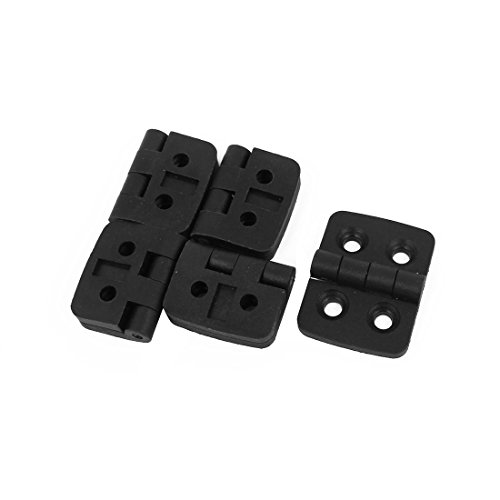 uxcell 41mmx31mmx9mm Plastic 4 Countersunk Holes Ball Bearing Butt Hinge Black 5pcs