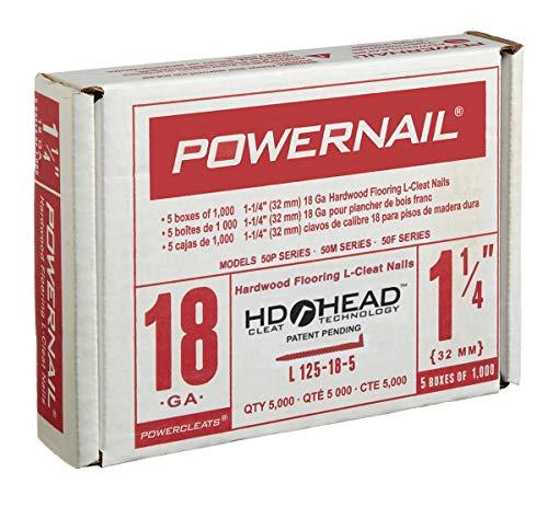 Powernail 18ga 1-14 HD L-Style Flooring Cleat Nail box of 5000 cleats