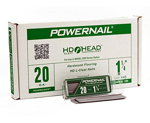 Powernail 20ga 1-14 HD L Cleat Flooring Nail 5-1000ct boxes