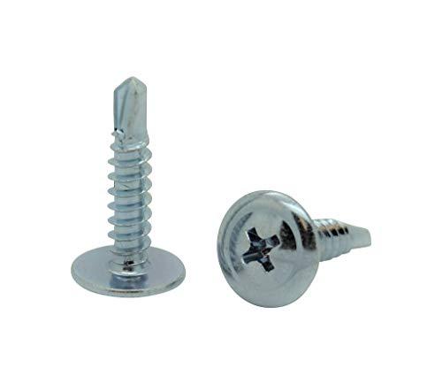 SNUG Fasteners SNG135 300 Qty 8 x 34 Zinc Wafer Modified Truss Head TEK Self Drilling Sheet Metal Screws
