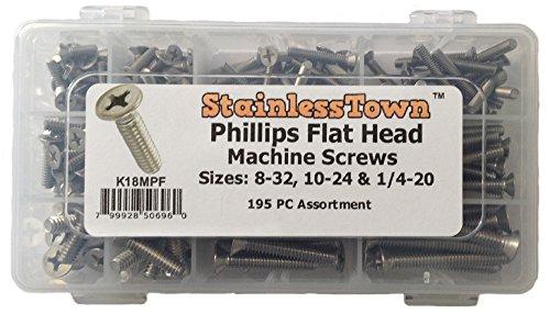 Stainless Steel Phillips Flat Machine Screw Kit K18MPF