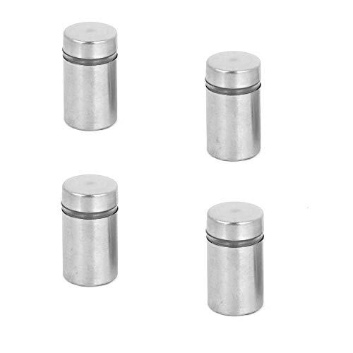 FixtureDisplays Glass Standoff Stainless Steel Standoffs Mirror Screw Standoff Framing Mount 16797-0787-4PK-NPF