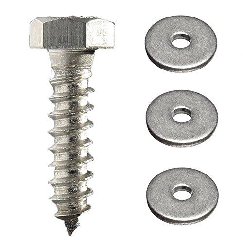 Fastener Pro 14 x 2-12-Inch Hex Head Lag Screw Kit 18-8 304 Stainless Steel 10-Pack 10 Lag Screws  10 Flat Washers