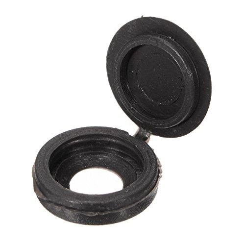 KINGSO Plastic Hinged Screw Cover Caps Pack of 50 for 6g8g Diameter Screw Black