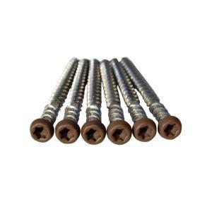 Veranda ArmorGuard 10 x 2-12 in Stainless Steel Brown Head Painted Composite Deck Screws
