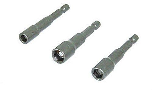 Power Tools 3 pc Magnetic Nut Driver Bit Setter 14 Hex Shank Quick Change 14 38 516 set