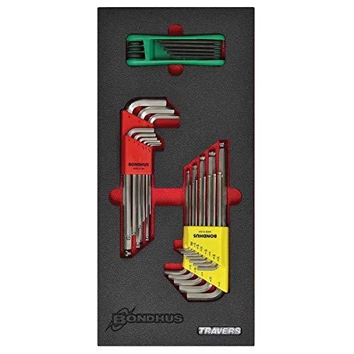 Bondhus-LEAN3 Balldriver L-Wrench Set GorillaGrip Fold Up Torx Key Set