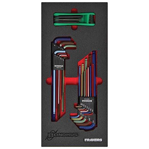 Bondhus-LEAN4 Balldriver L-Wrench Set GorillaGrip Fold Up Torx Key Set