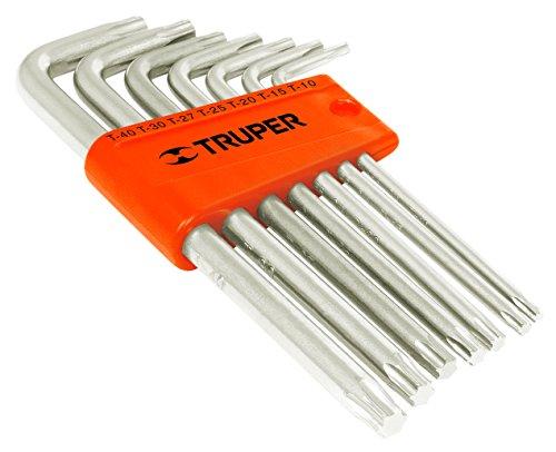 TRUPER TORX-7L 7-Pc Long-Arm Torx Key Set Plastic Holder