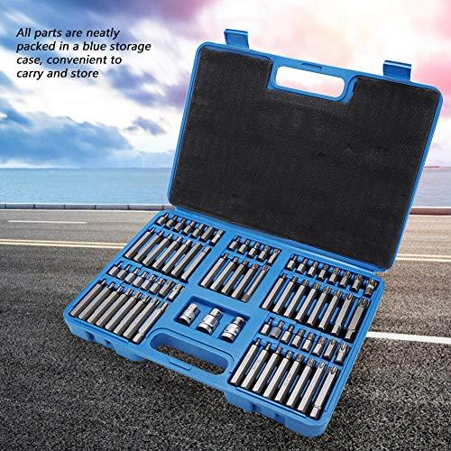 75Pcs T20-T60 Torx Spanner Screwdriver Bit Set Hex Holder  Box
