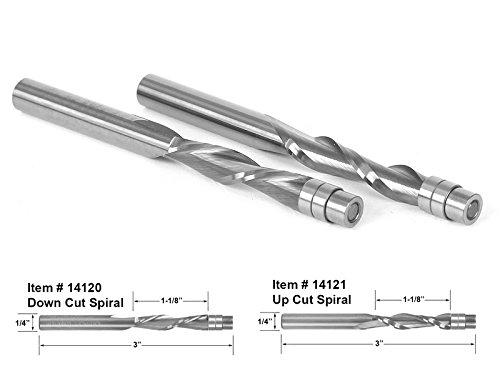 Yonico 14220 Solid Carbide Flush Trim Spiral Router Bit Set 14
