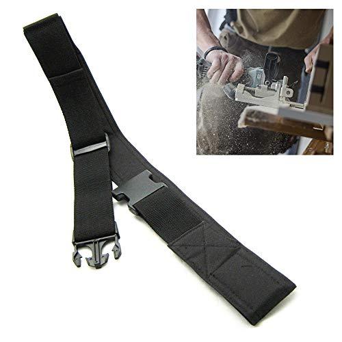 Work Belt 2-inch Heavy Duty Poly Web Side Release Buckle Pouch Tool Holder Black