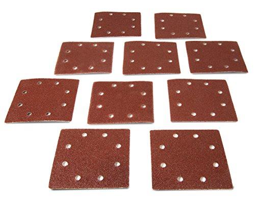 WEN 6304SP240 14-Sheet Sander 240-Grit Hook-and-Loop Sandpaper 10-Pack
