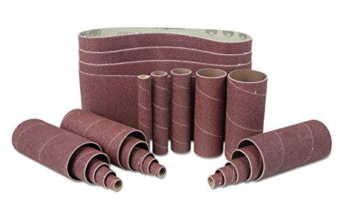 WEN 6523SP240 240-Grit Combination Belt Sleeve Sandpaper Set 24 Pack