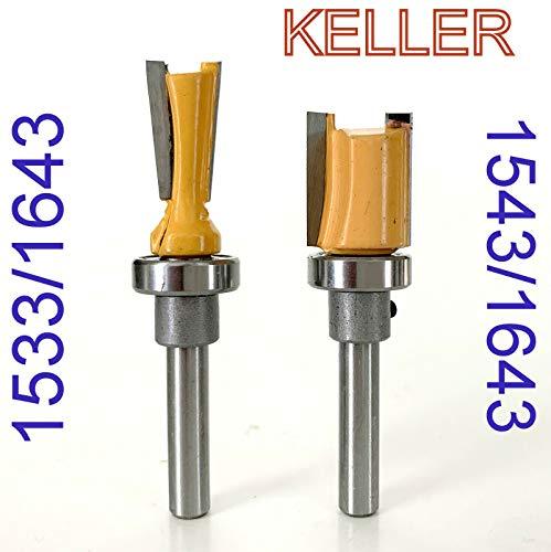 2 pc 14 Sh Top Bearing 7° Dovetail Router Bit Set For Keller Jig sct-888
