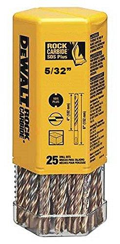 DeWalt DW5401B25 DeWalt 532 x 4-12 x 6-12 Rock Carbide SDS Hammer Bit Bulk 25