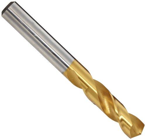 YG-1 D4107 High Speed Steel Split Point Stub Length Drill Bit TiN Finish Straight Shank Slow Spiral 135 Degree 935mm Diameter x 84mm Length Pack of 1