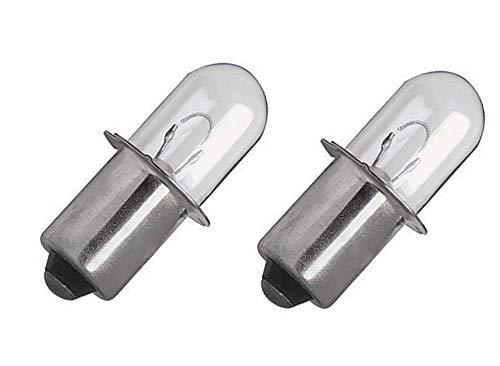 HASMX 2-Pack 18V Xenon Bulb Replacement for Ryobi ONE Plus Cordless Flashlight Work Lights - 18 Volt Bulbs