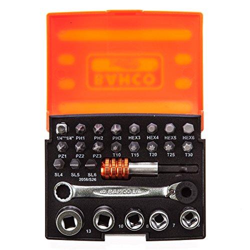 Bahco 2058S26 Bit-Socket Set 26-piece
