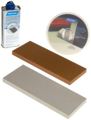Norton Oilstone Sharpening Kit  1 8 x 3 Medium India stone 1 8 x 3 Ultra Fine Hard Arkansas stone