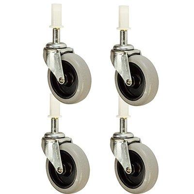 7380-L1 Rubbermaid Mop Bucket Casters wSockets - 3 Non-Marking Wheels Set of 4