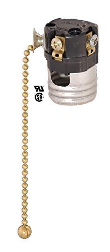 B&P Lamp 3-Way Pull Chain Socket Interior No Paper Insulator